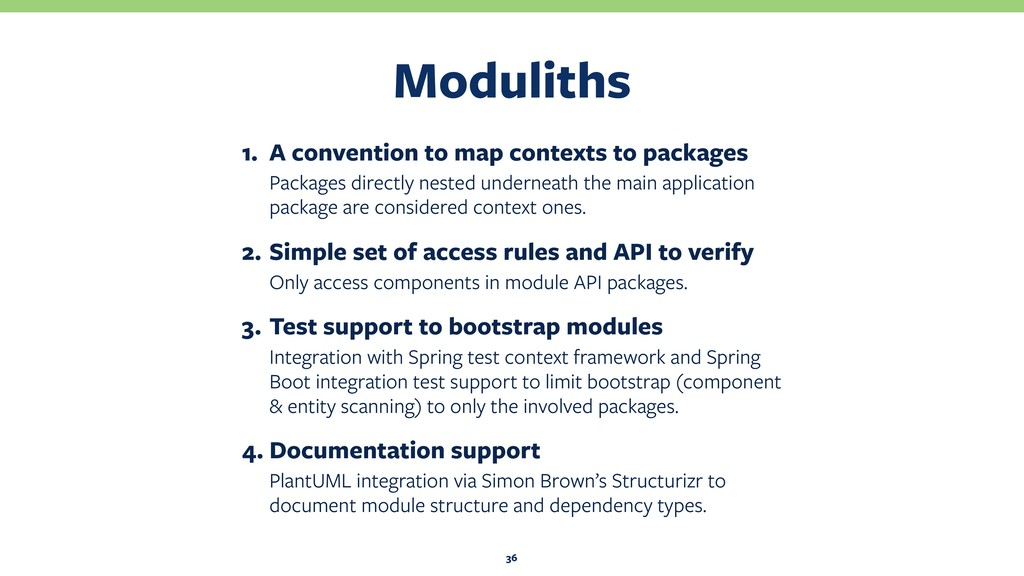 Moduliths 36 1. A convention to map contexts to...