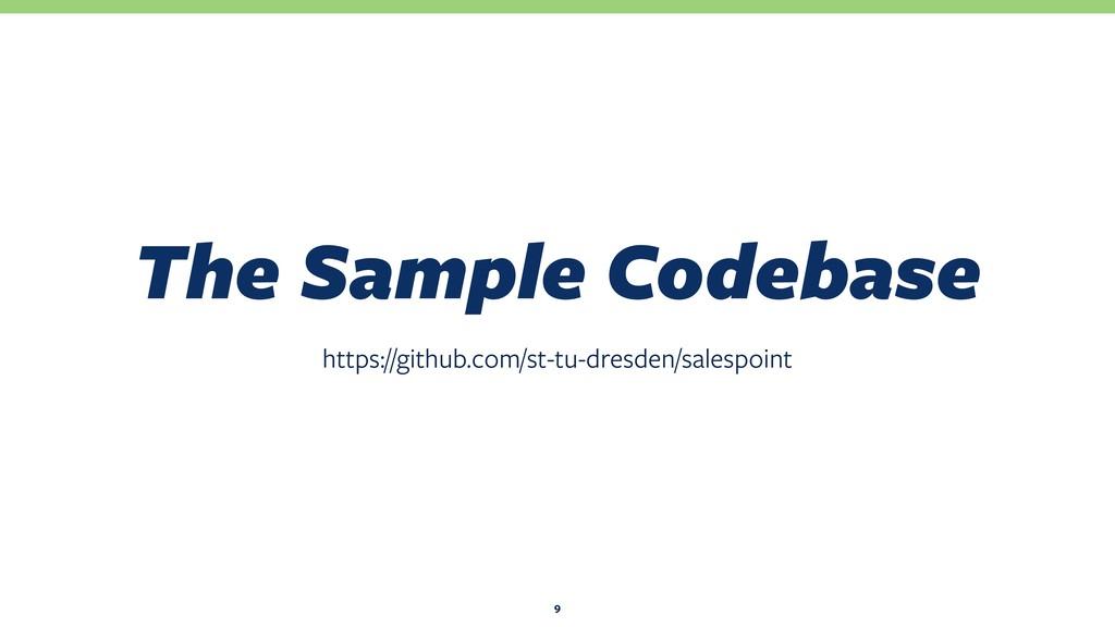 The Sample Codebase https://github.com/st-tu-dr...