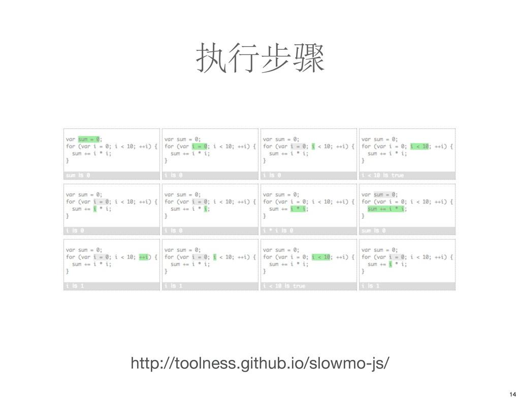 执行步骤 http://toolness.github.io/slowmo-js/ 14