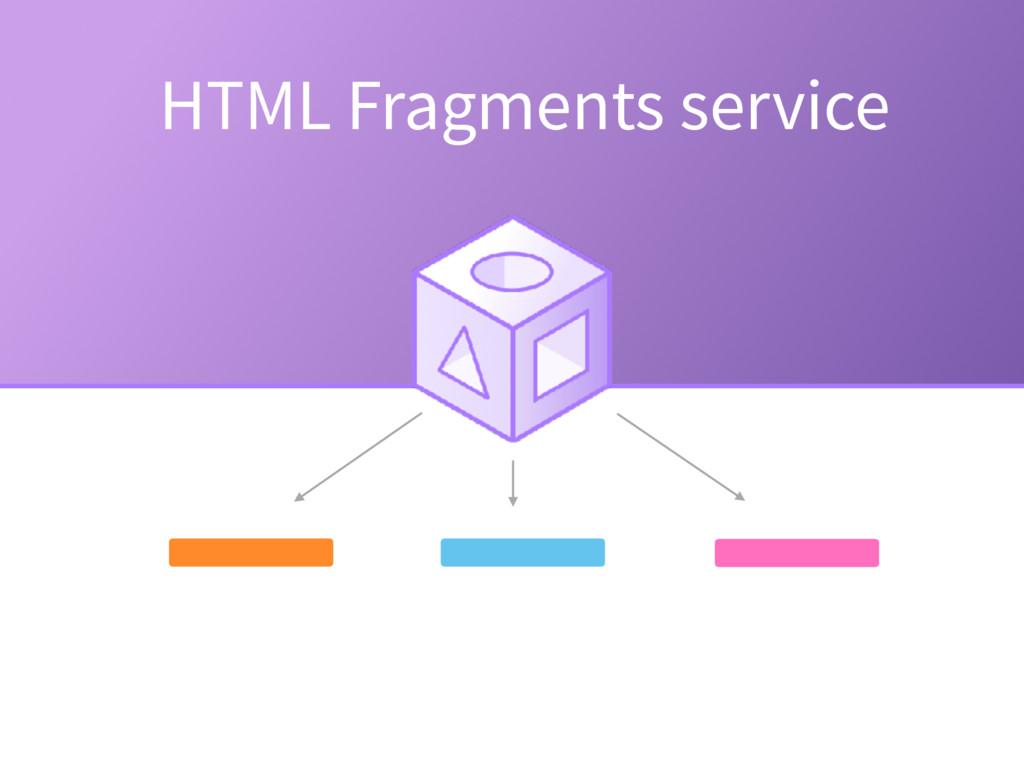 HTML Fragments service
