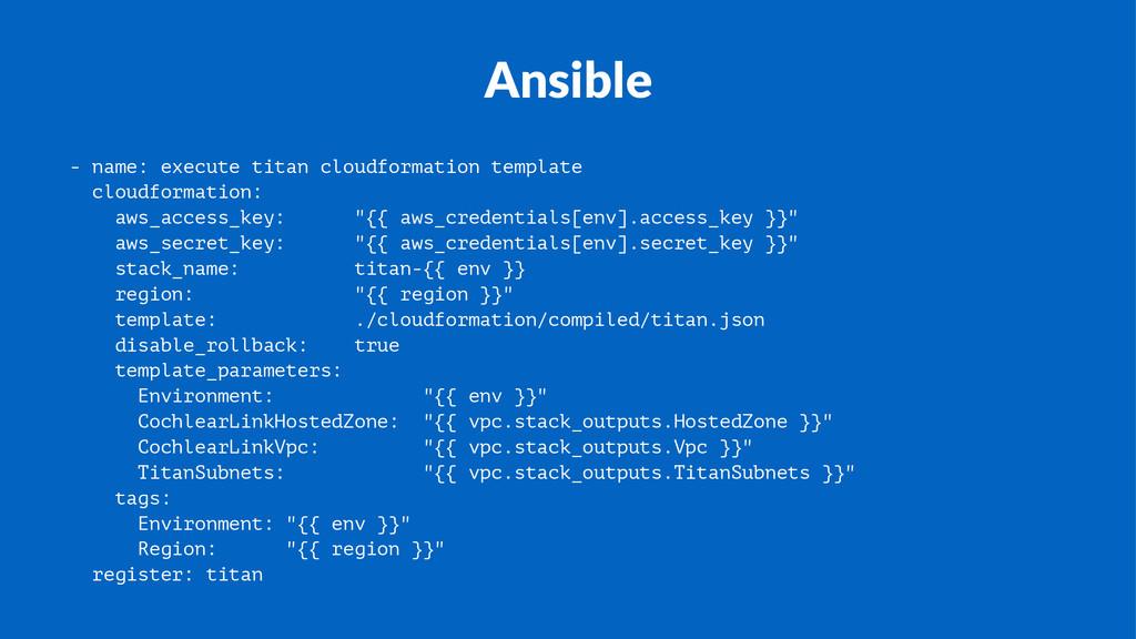 Ansible - name: execute titan cloudformation te...