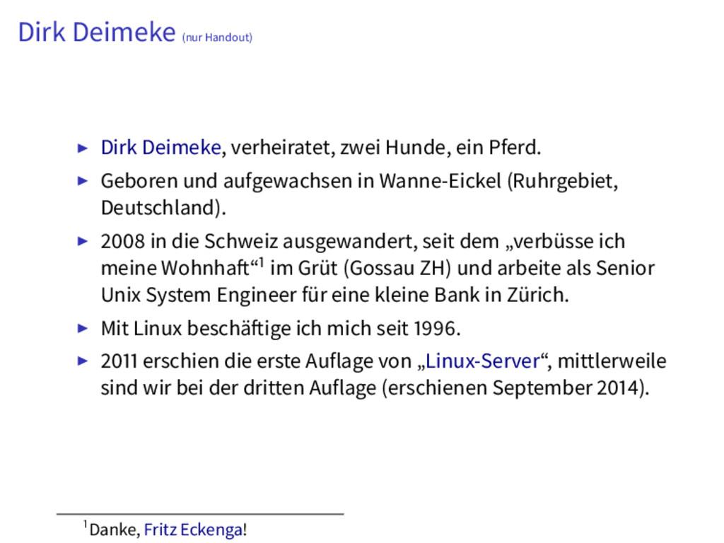 Dirk Deimeke (nur Handout) Dirk Deimeke, verhei...