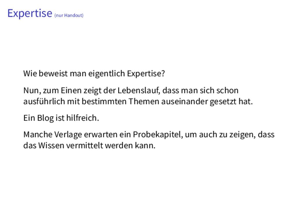 Expertise (nur Handout) Wie beweist man eigentl...