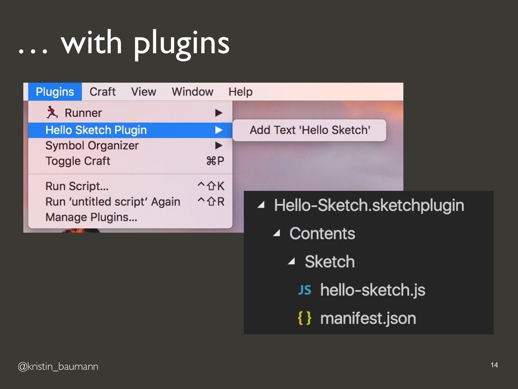 @kristin_baumann !14 … with plugins