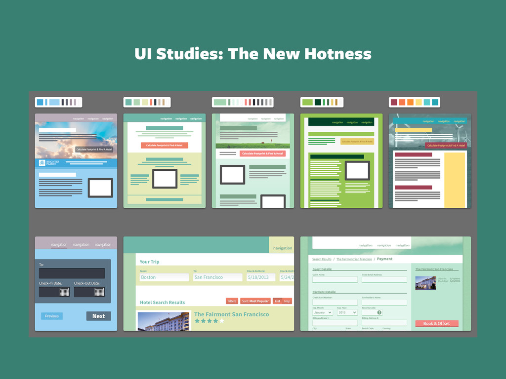 UI Studies: The New Hotness
