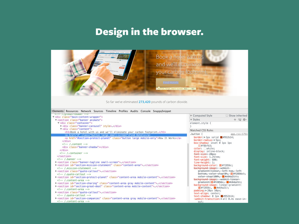 Design in the browser.