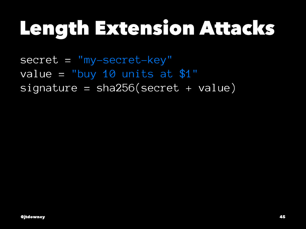 "Length Extension Attacks secret = ""my-secret-ke..."