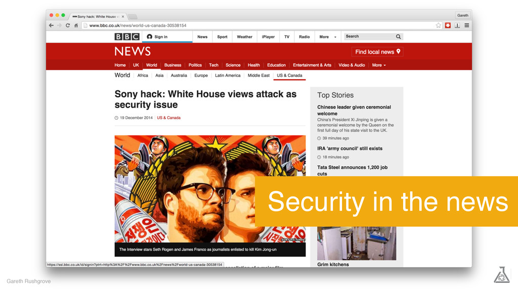 Gareth Rushgrove Security in the news