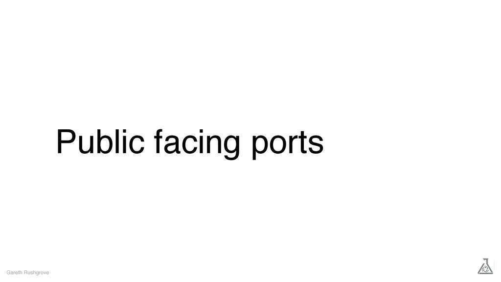Public facing ports Gareth Rushgrove