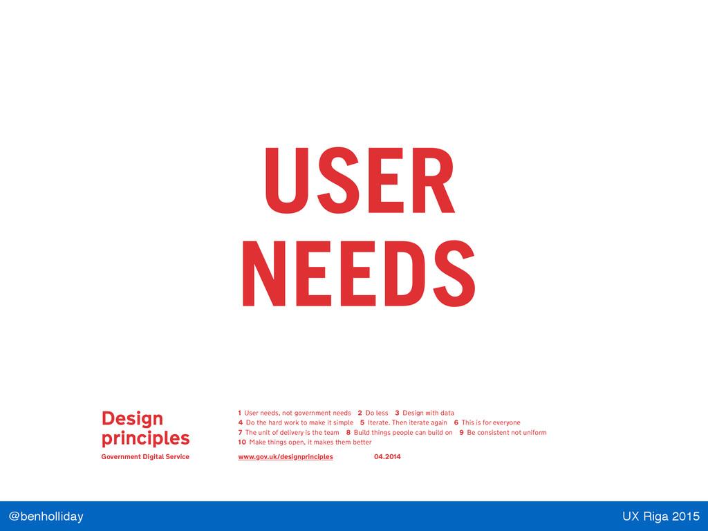 UX Riga 2015 @benholliday Design principles Gov...