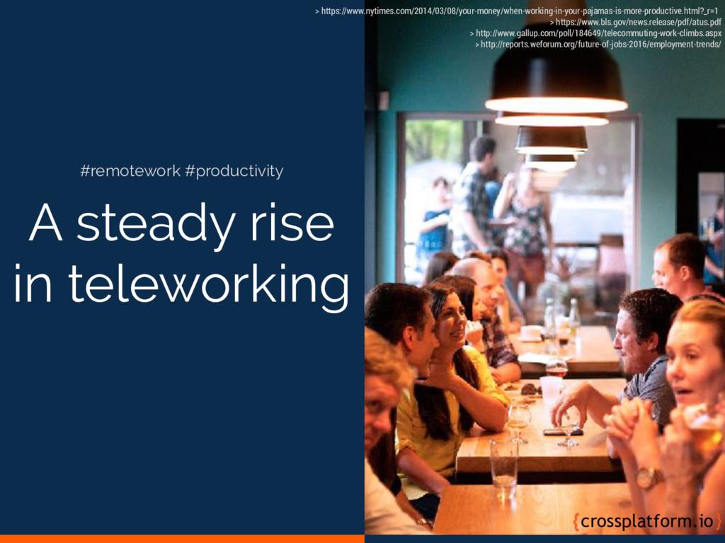 A steady rise in teleworking crossplatform.io #...