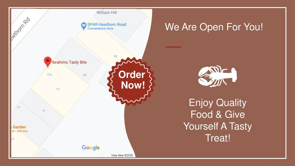 We Are Open For You! Enjoy Quality Food & Give ...