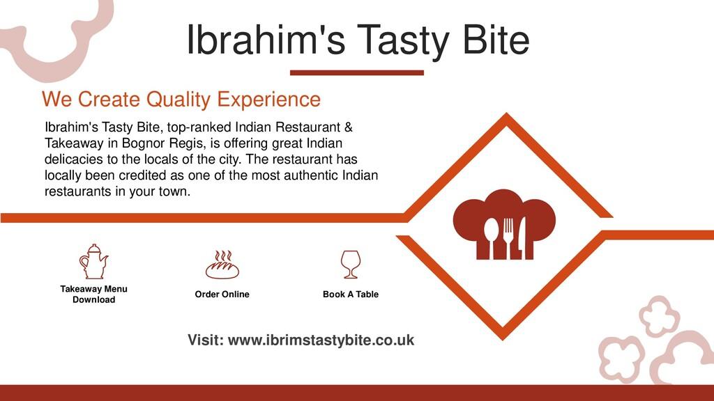 Ibrahim's Tasty Bite Takeaway Menu Download Ord...