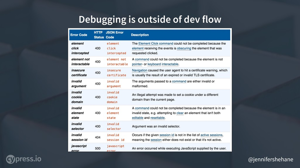 @jennifershehane Debugging is outside of dev fl...