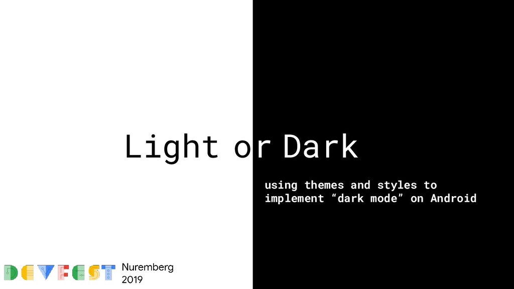 Light or Dark using themes and styles to implem...
