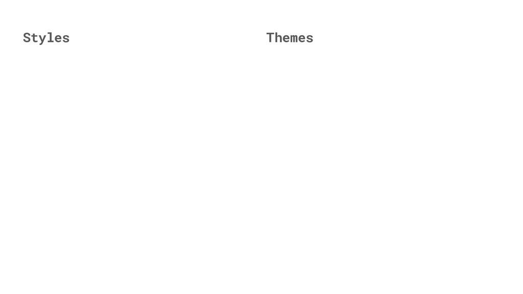 Themes Styles