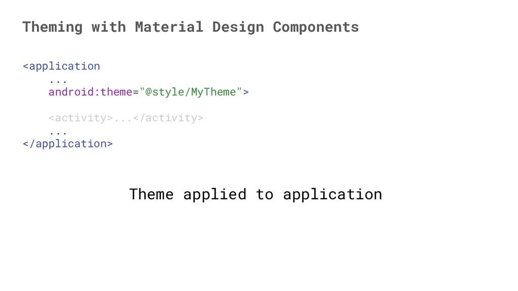 "<application ... android:theme=""@style/MyTheme""..."