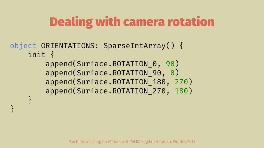 Dealing with camera rotation object ORIENTATION...