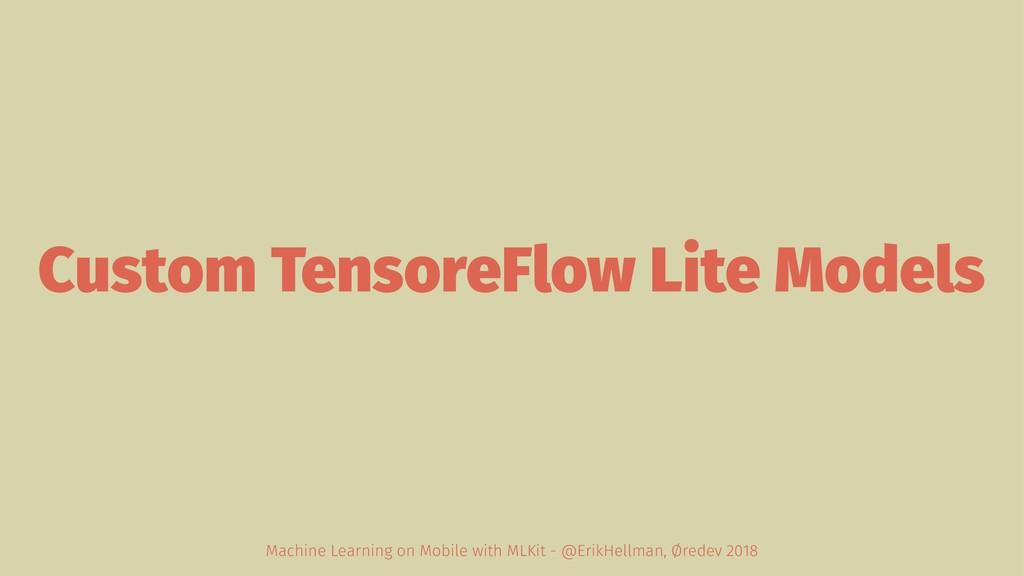 Custom TensoreFlow Lite Models Machine Learning...
