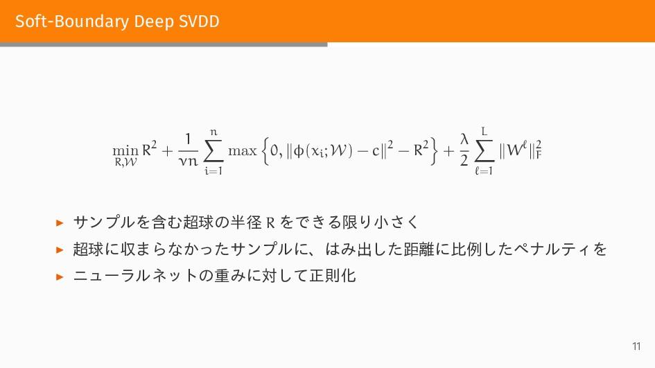 Soft-Boundary Deep SVDD min R,W R2 + 1 νn n ∑ i...