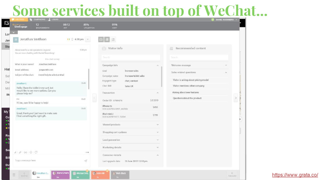 Some services built on top of WeChat... https:/...