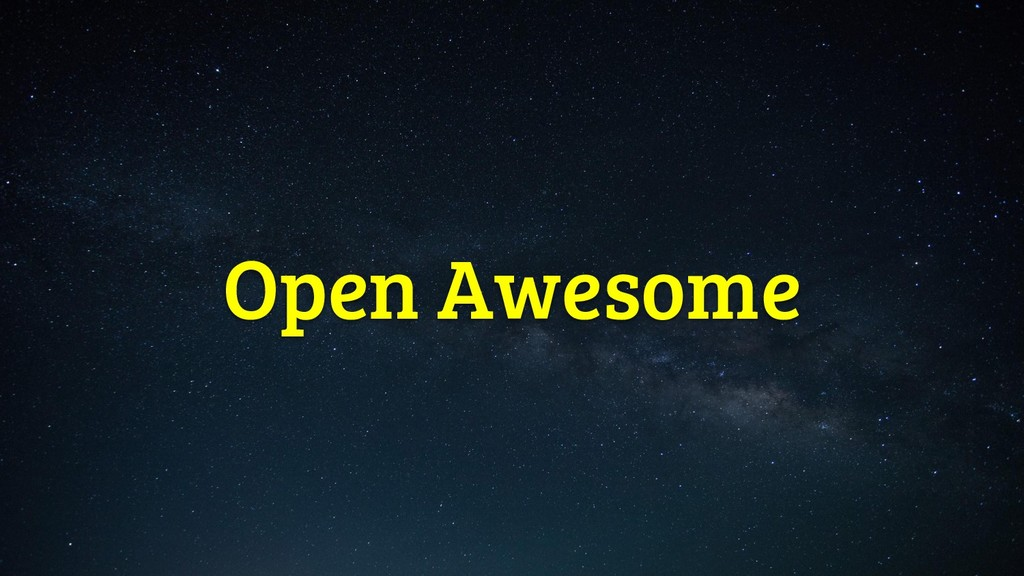Open Awesome