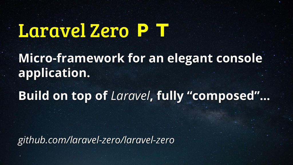Laravel Zero  Micro-framework for an elegant co...