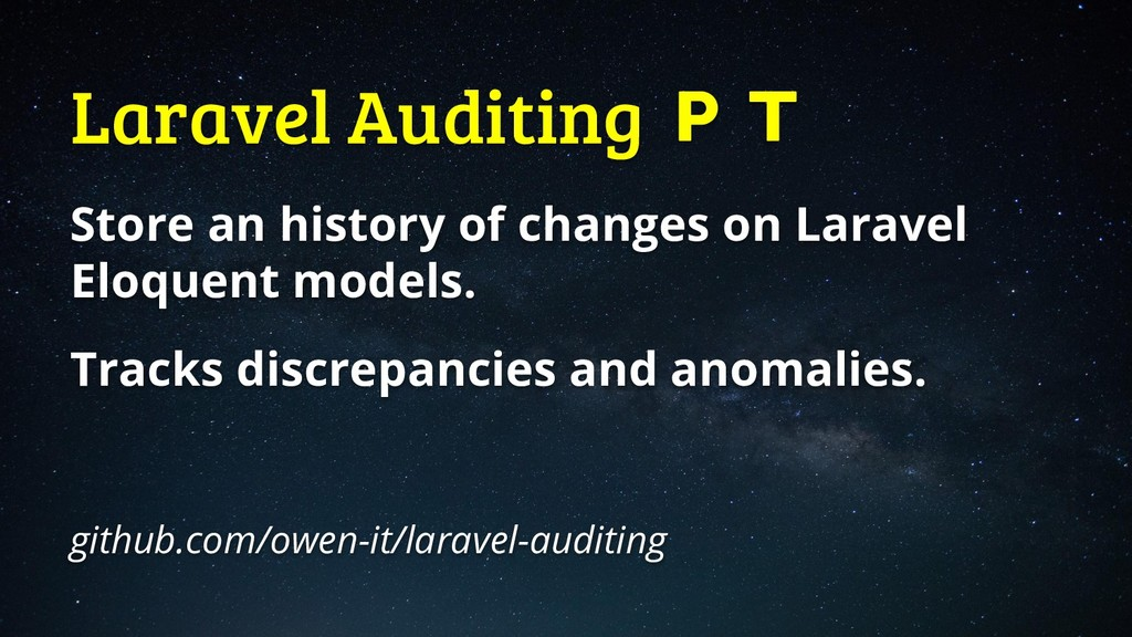 Laravel Auditing  Store an history of changes o...