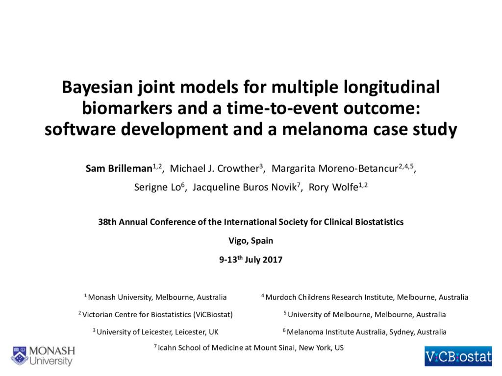 Bayesian joint models for multiple longitudinal...