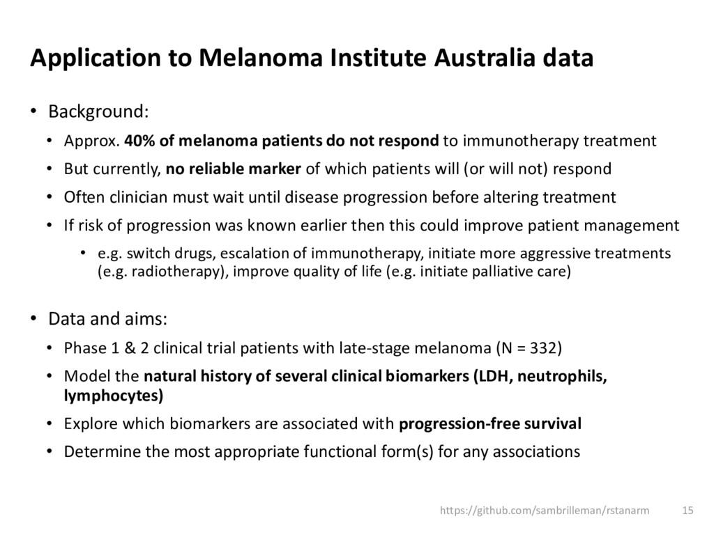 Application to Melanoma Institute Australia dat...