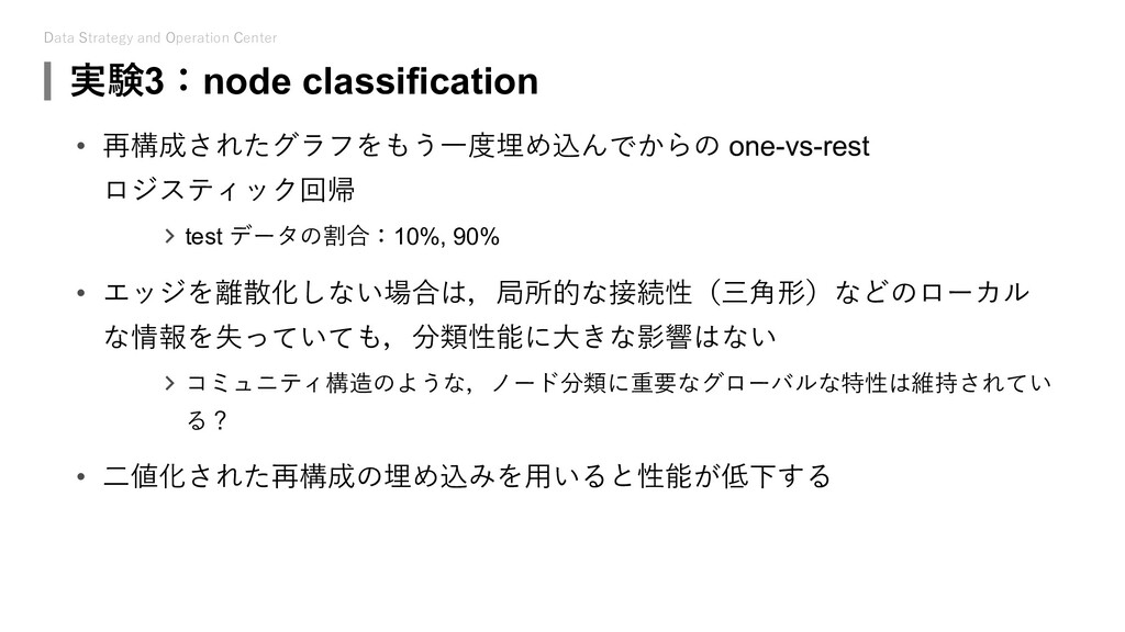 Data Strategy and Operation Center 実験3:node cla...