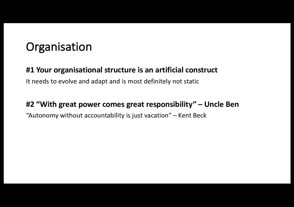 Organisation #1 Your organisational structure i...