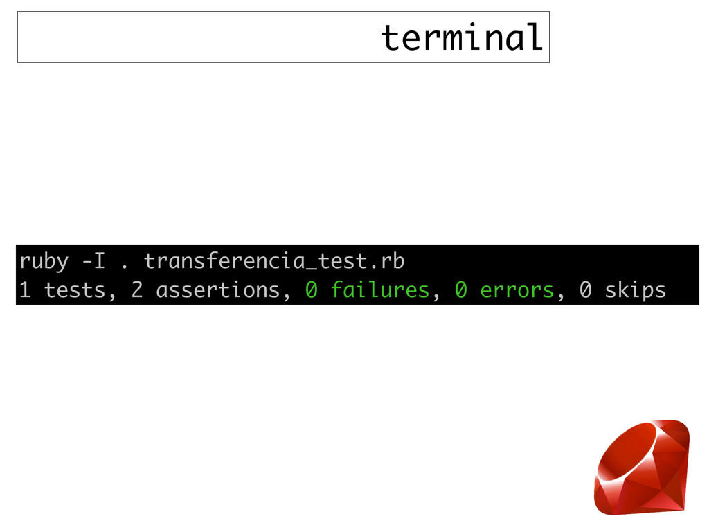 terminal ruby -I . transferencia_test.rb 1 test...