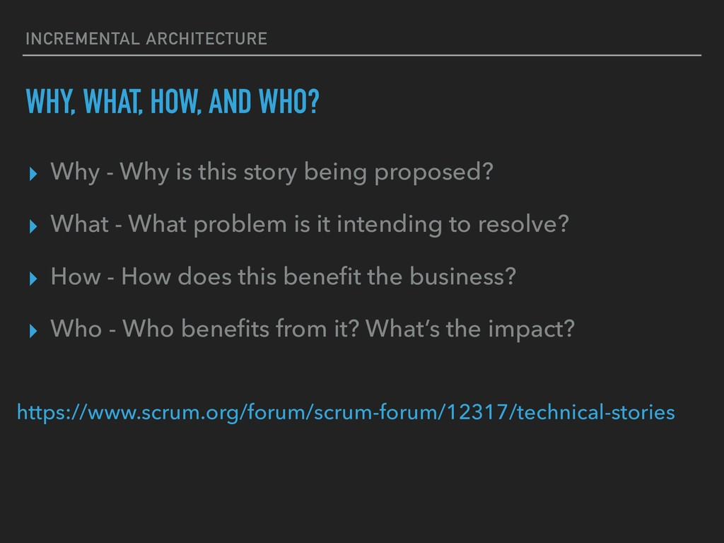 INCREMENTAL ARCHITECTURE WHY, WHAT, HOW, AND WH...