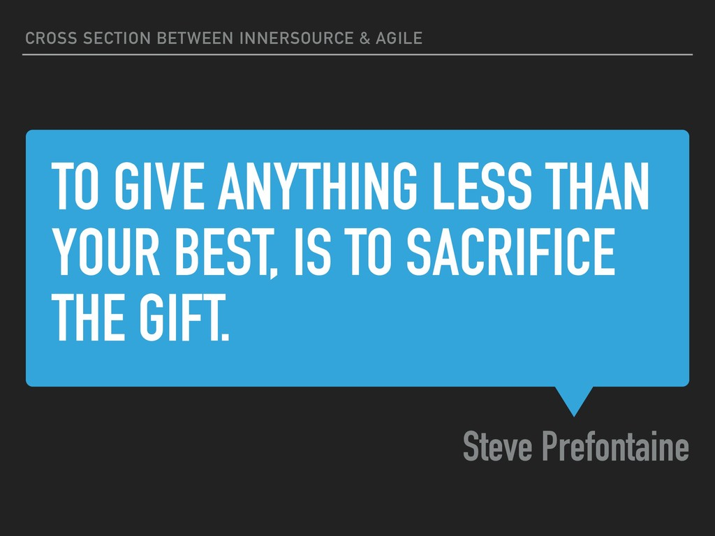 TO GIVE ANYTHING LESS THAN YOUR BEST, IS TO SAC...