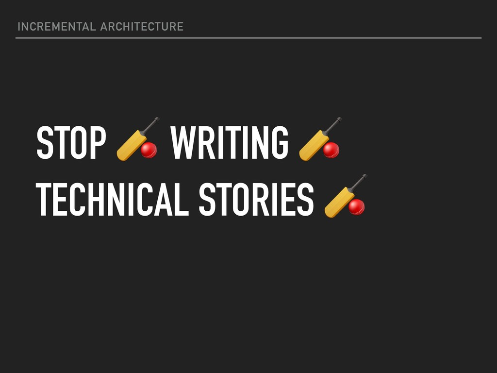 INCREMENTAL ARCHITECTURE STOP  WRITING  TECHNIC...