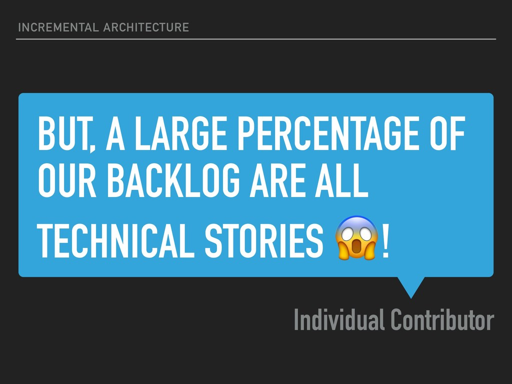 BUT, A LARGE PERCENTAGE OF OUR BACKLOG ARE ALL ...