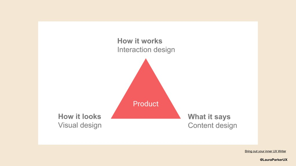 @LauraParkerUX Bring out your inner UX Writer
