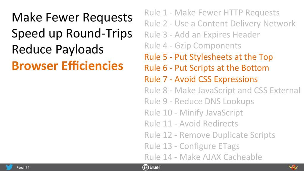 Rule 1 -‐ Make Fewer HTTP Re...