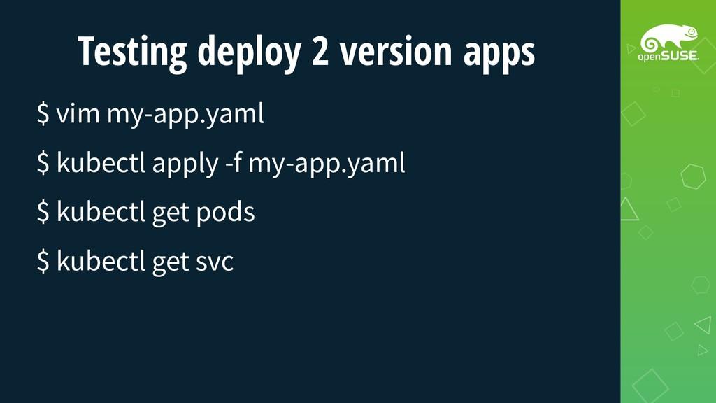Testing deploy 2 version apps $ vim my-app.yaml...
