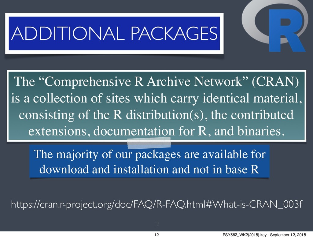 "12 The ""Comprehensive R Archive Network"" (CRAN)..."
