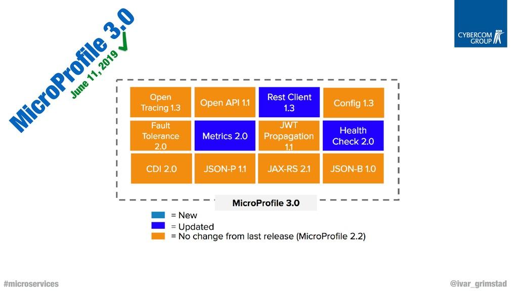 @ivar_grimstad #microservices M icroProfile 3.0 ...