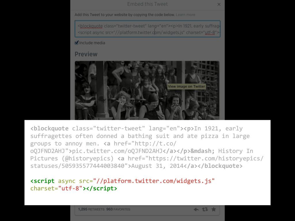 """<blockquote class=""""twitter-‐tweet"""" lang=..."""