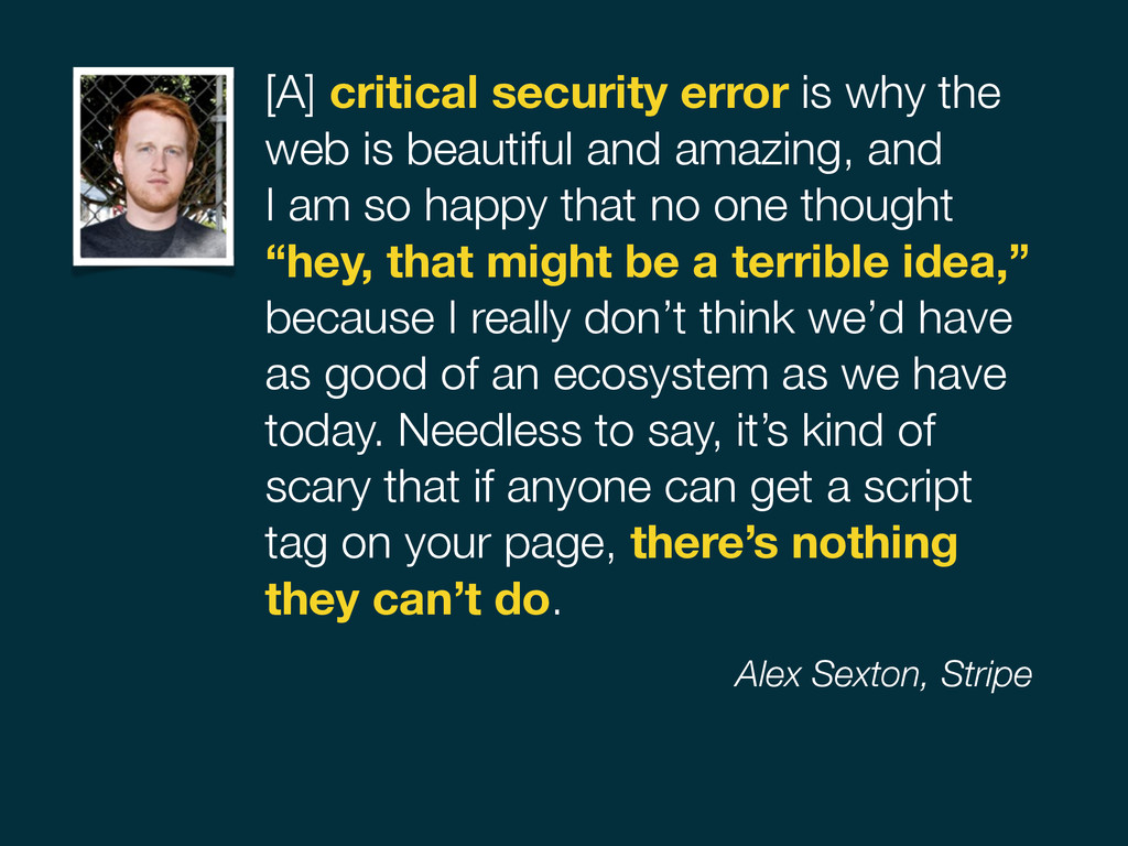 [A] critical security error is why the web is b...