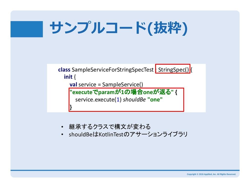 ( class SampleServiceForStringSpecTest : String...