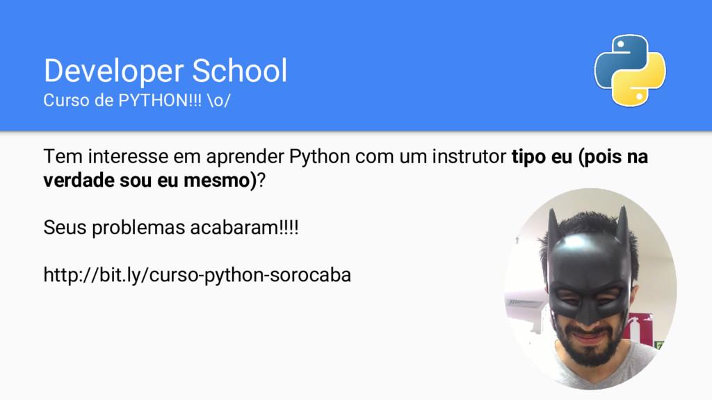Tem interesse em aprender Python com um instrut...