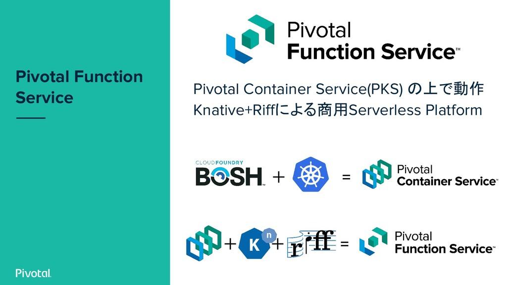 Pivotal Function Service Pivotal Container Serv...