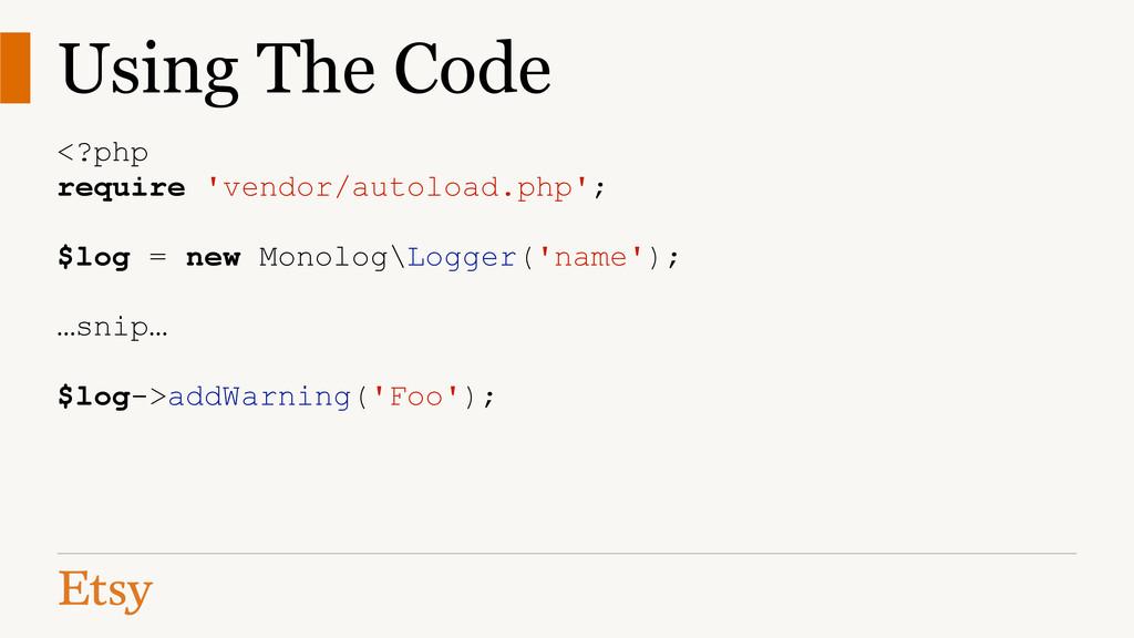 Using The Code <?php require 'vendor/autoload.p...