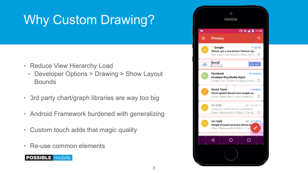 Why Custom Drawing? • Reduce View Hierarchy Loa...