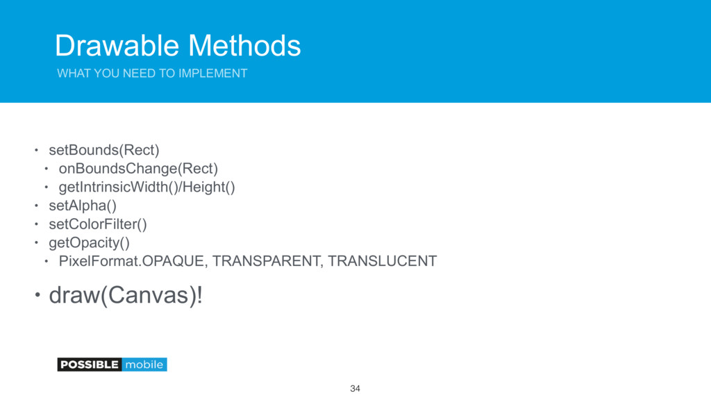 Drawable Methods WHAT YOU NEED TO IMPLEMENT • s...